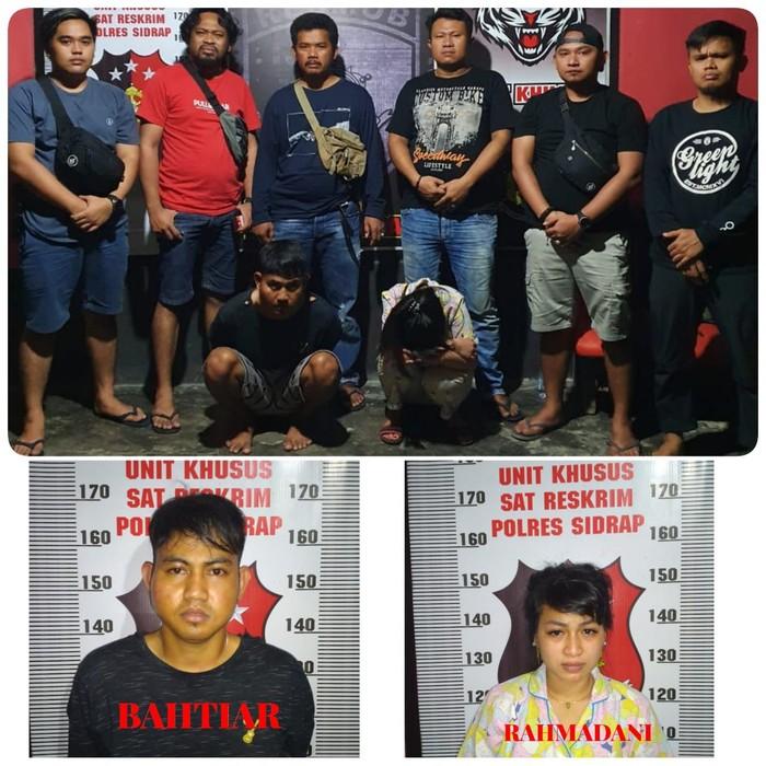 Muda-mudi di Sidrap ditangkap polisi atas kasus penggelapan 12 unit mobil (dok. Istinewa)