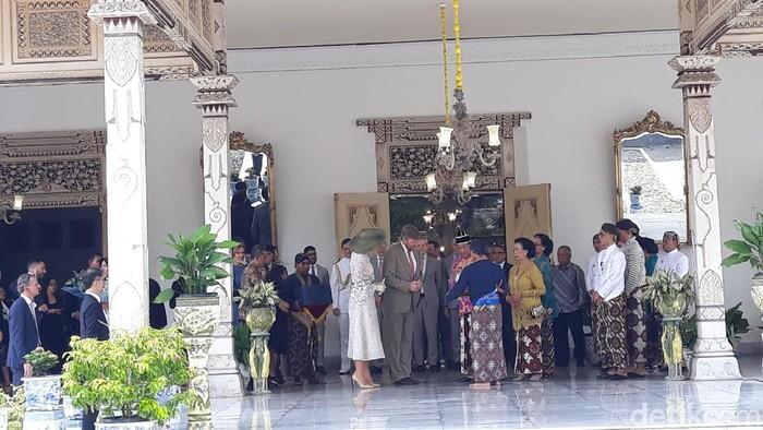 Pertemuan Raja Willem Alexander dengan Sri Sultan HB X di Keraton Yogyakarta, Rabu (11/3/2020).