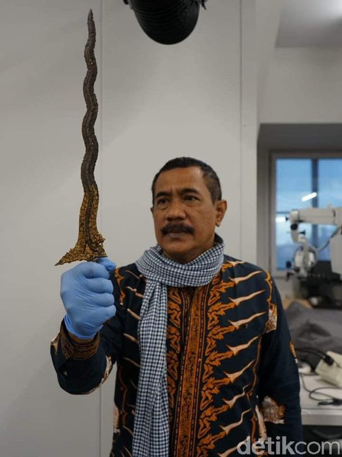 Keris milik Pangeran Diponegoro yang dikembalikan dari Belanda