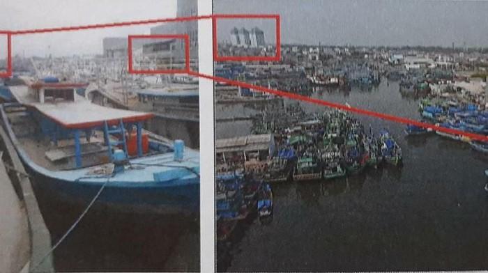 Foto: List merah adalah kondisi kapal di Muara Angke sebelum berangkat, list kuning adalah kapal saat tiba di Pulau Reunion Prancis (dok. Istimewa)