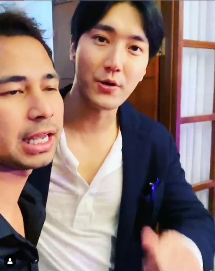 Raffi Ahmad dan Siwon Choi.