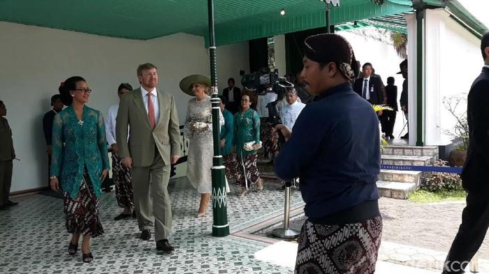 Raja Willem Alexander bersama Ratu Maxima dari Belanda tiba di Keraton Yogyakarta, Rabu (11/3/2020).