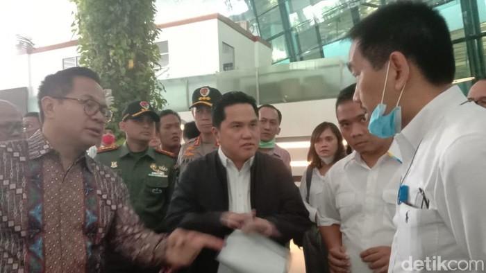 Menteri BUMN Erick Thohir di Bandara Soekarno-Hatta
