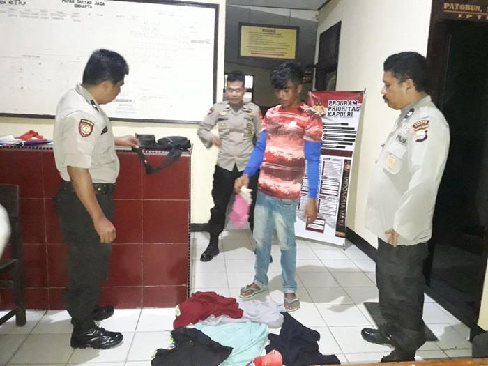Polisi tangkap pencuri pakaian wanita di Palopo, Sulteng (dok. Istimewa)