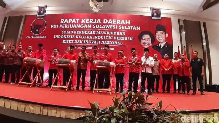 Rakerda PDIP Sulsel, di Hotel Claro, Makassar, Kamis (12/3/2020) (MN Abdurrahman/detikcom)