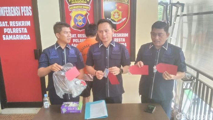 Polisi menangkap pria yang menganiaya mantan pacar di Kalimantan Timur.