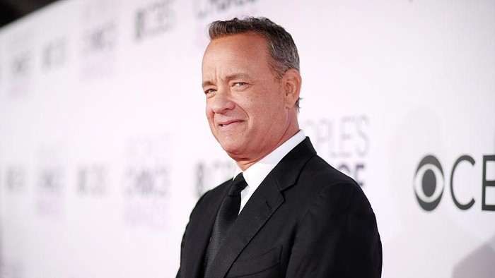 HOLLYWOOD, CALIFORNIA - OCTOBER 27: Tom Hanks speaks onstage during the Academy Of Motion Picture Arts And Sciences 11th Annual Governors Awards at The Ray Dolby Ballroom at Hollywood & Highland Center on October 27, 2019 in Hollywood, California. (Photo by Kevin Winter/Getty Images)