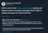 Terungkap Situs Corona Jakarta Go Id Sempat Diserang Hacker