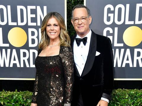 6/5/97 Santa Monica, Ca Tom Hanks and Rita Wilson at the APLA benefit Gala. The gala took place in a private airplane hanger at the Santa Monica Airport.