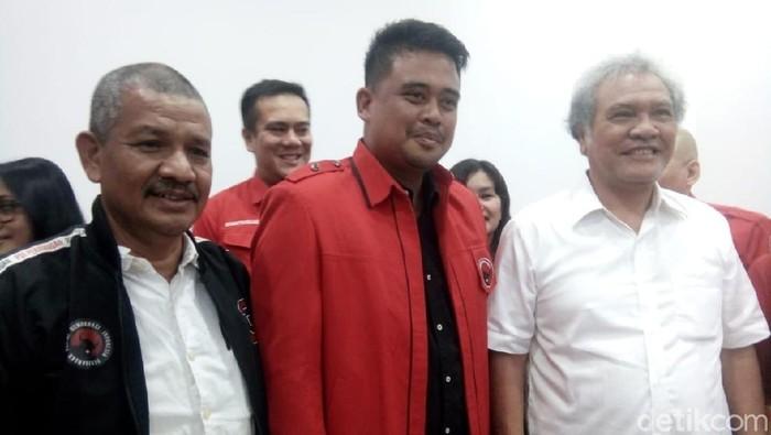 Bobby Nasution mendaftarkan diri sebagai anggota PDIP. Dia mendaftar di DPD PDIP Sumut (Ahmad Arfah/detikcom)