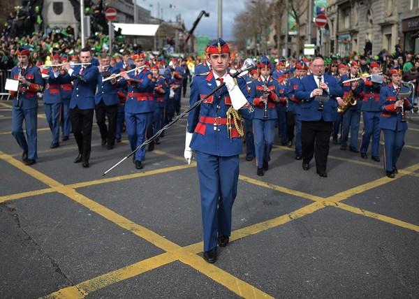 Parade St. Patricks Day yang rutin diselenggarakan tiap tahun di Dublin, Irlandia, dibatalkan guna mencegah penyebaran virus corona. Getty Images/Charles McQuillan.
