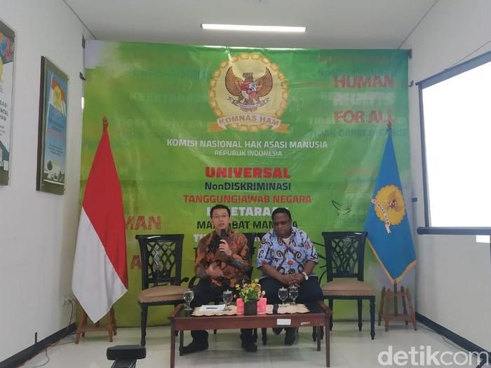 Dewan Adat Papua melaporkan dugaan pelanggaran HAM dalam operasi penegakan hukum di Intan Jaya (Wilda HN/detikcom)