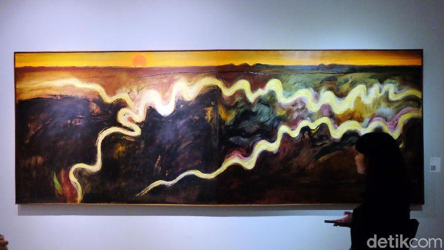 Merenungi Lukisan Banjir hingga Emas Papua di Lukisan Srihadi Soedarsono