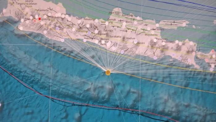 Lokasi gempa di Selatan Pulau Jawa (Dok. BMKG)