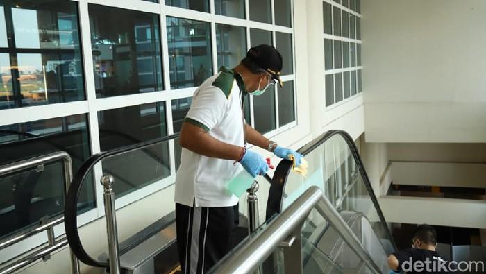 Gencar Waspada Corona, Fasilitas di Bandara Ngurah Rai Bali Disterilkan