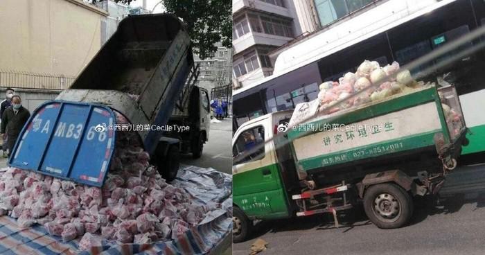 truk sampah untuk mengantar daging