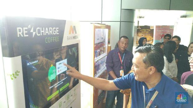 Bank Mega bersama Bank Indonesia mengadakan sosialisasi QRIS. (CNBC Indonesia/Yuni Astutik)
