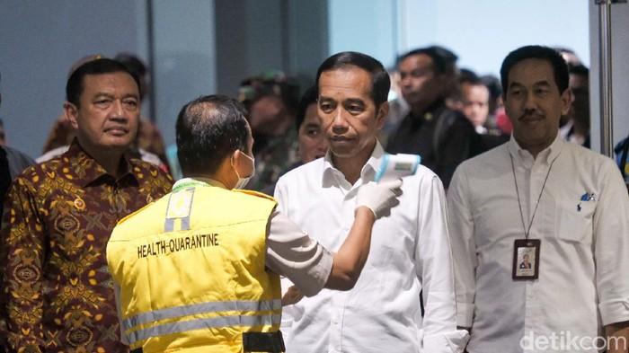 Presiden Joko Widodo di Bandara Soetta.