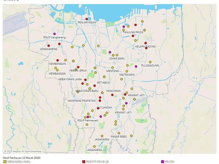 Anies Ungkap Peta Sebaran Corona Di Jakarta Ini Penampakannya