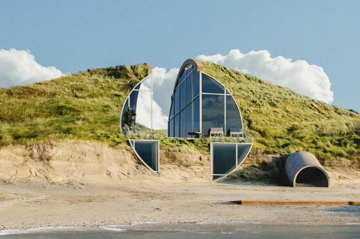 Di tepi pantai Wellfleet yang berada di Cape Cod, Massachusetts, Amerika Serikat terdapat sebuah rumah yang memiliki desain memukau. Rumah ini diberi nama Dune House.
