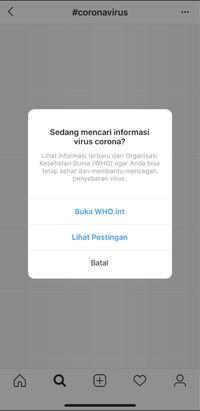 Instagram 'Bersih-bersih' Misinformasi Corona