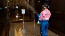 Kantor Pusat Bank BRI juga Disemprot Disinfektan