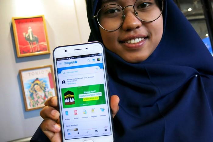 PT. Mapel Teknologi Indonesia memperkenalkan aplikasi Market Place mapel.co.id di Jakarta, Minggu (15/3/2020). 'Belanja senang harga senang' itulah yang ingin diciptakan.