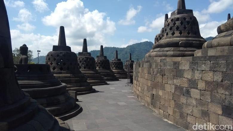 Borobudur lengang karena pembatasan kunjungan, 16/3/2020