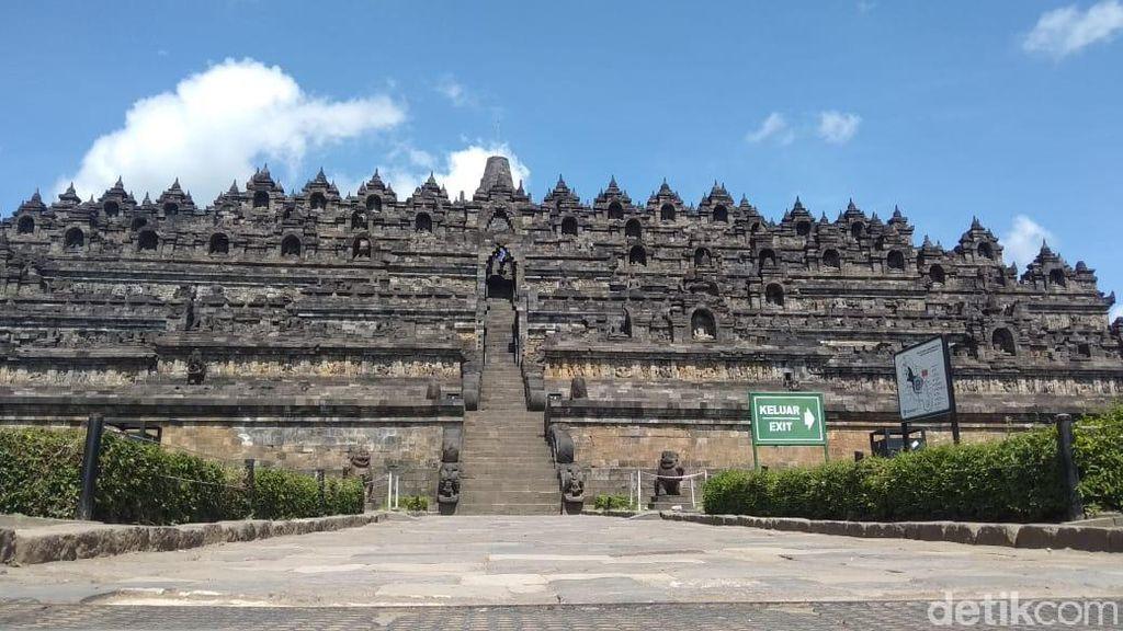Kunjungan Dibatasi Gegara Corona, Candi Borobudur Lengang dan Sepi