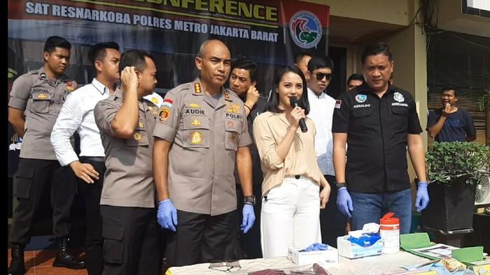 Ririn Ekawati di Polres Jakarta Barat (Hanif/detikcom)
