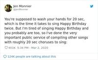 Di tengah merebaknya COVID-19 atau virus corona, netizen punya trik untuk semangat cuci tangan: sambil menyanyikan deretan lagu berikut yang pas 20 detik.