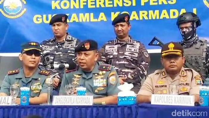 TNI AL tangkap 3 perompak kapal asing di Kepri (Agus Siagian/detikcom)