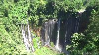Meski demikian, kunjungan wisatawan dalam negeri ke air terjun Tumpak Sewu tidak mengalami penurunan, yakni 2.000-2.500 dalam satu bulan (Foto: Nur Hadi Wicaksono/detikcom)