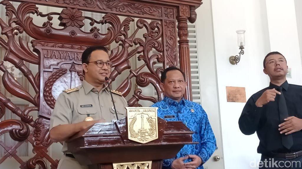 Anies: DKI Usul Karantina Wilayah, Sektor Kesehatan-Pangan Harus Tetap Jalan