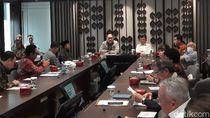 JK Sambangi Kantor Kadin Bahas Rencana Aksi-Pencegahan Virus Corona
