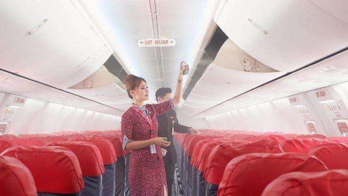 Lion Air disemprot disinfektan