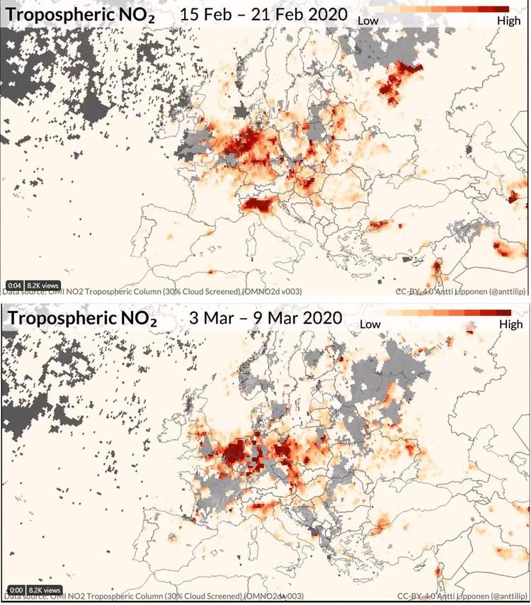 Foto satelit polusi corona