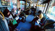 Sosialisasi Pakai Masker di TransJ-MRT-LRT Cegah Corona Dimulai Hari Ini