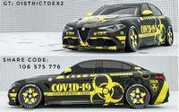 Livery mobil terinspirasi dari Covid-19