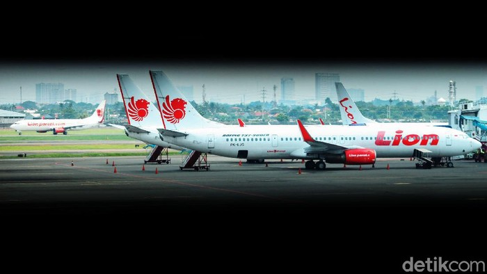Ilustrasi pesawat Lion Air
