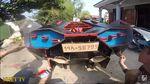 Kreatif! Lamborghini dan Bugatti Dibuat dari Kardus Bekas
