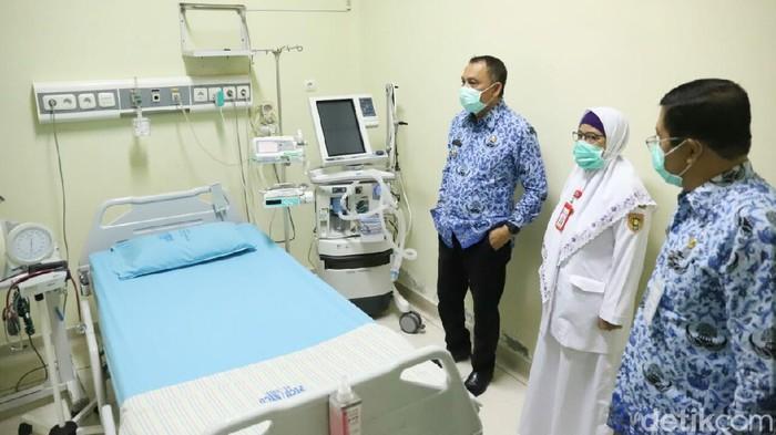 Bupati Purworejo Agus Bastian tinjau kesiapan RSUD dr Tjitrowardojo, Selasa (17/3/2020).