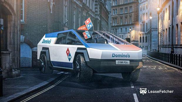 Ini kalau jadi kendaraan kurir Domino's Pizza
