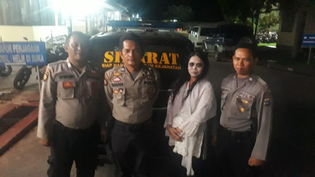 Takuti Warga dengan Jadi Kuntilanak di Jalan Kalsel, Wanita Ini Dibekuk