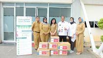 Cegah Corona, Hutama Karya Bagikan Masker & Hand Sanitizer di Tangsel
