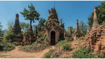 Potret Sisa-sisa Kuil Indein di Myanmar