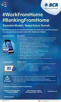 Di Tengah Wabah Corona, BCA Mobile Mudahkan Transaksi dari Rumah
