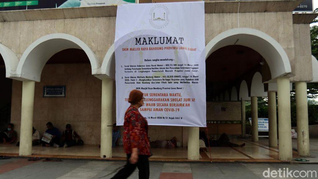 Pengumuman, Masjid Raya Bandung Tiadakan Salat Jumat