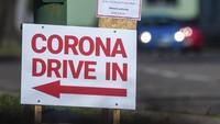 Negara lain yang sudah membelakukan tes corona dengan cara drive through adalah Jerman (AP/Klaus-Dietmar Gabbert)