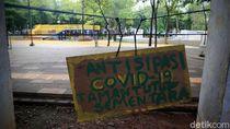 Taman Puring Ditutup Antisipasi Corona